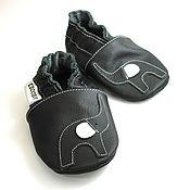 Работы для детей, handmade. Livemaster - original item Elephant baby shoes, Genuine Leather Infant Slippers,Ebooba. Handmade.