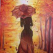Картины и панно ручной работы. Ярмарка Мастеров - ручная работа Прощай осень. Картина маслом. Handmade.