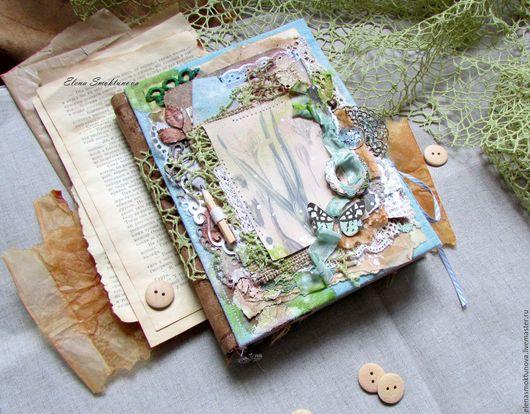 Персональные подарки ручной работы. Ярмарка Мастеров - ручная работа. Купить Ботанический блокнот. Handmade. Комбинированный, блокнот в мягкой обложке