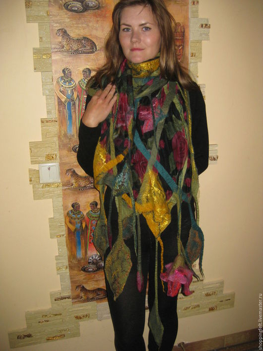 """Шарфы и шарфики ручной работы. Ярмарка Мастеров - ручная работа. Купить шарф """"Вдохновение"""". Handmade. Коричневый, авторская ручная работа"""