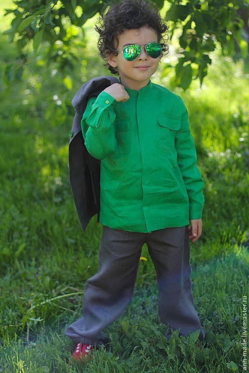 Одежда для мальчиков, ручной работы. Ярмарка Мастеров - ручная работа. Купить Рубашка (Арт. М-11) и Брюки (Арт. М-12). Handmade.