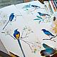 Интерьерная композиция Скворцы прилетели, акварель, размер каждого рисунка 23см*60см, Светлана Маркина, LechuzaS