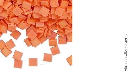 Для украшений ручной работы. Ярмарка Мастеров - ручная работа. Купить Бисер Tila 1265 (406)оранж радужный матовый. Handmade.