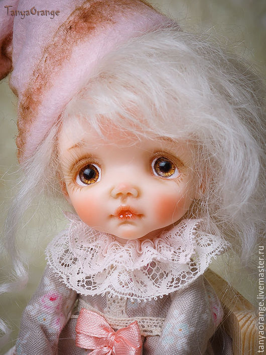 Коллекционные куклы ручной работы. Ярмарка Мастеров - ручная работа. Купить гномочка Ванилька. Handmade. Малышка, полимерная глина