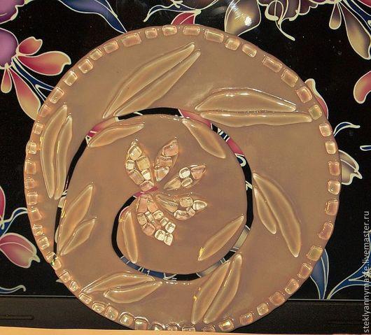 Тарелки ручной работы. Ярмарка Мастеров - ручная работа. Купить тарелка Хрустальная, фьюзинг, стекло. Handmade. Серебряный
