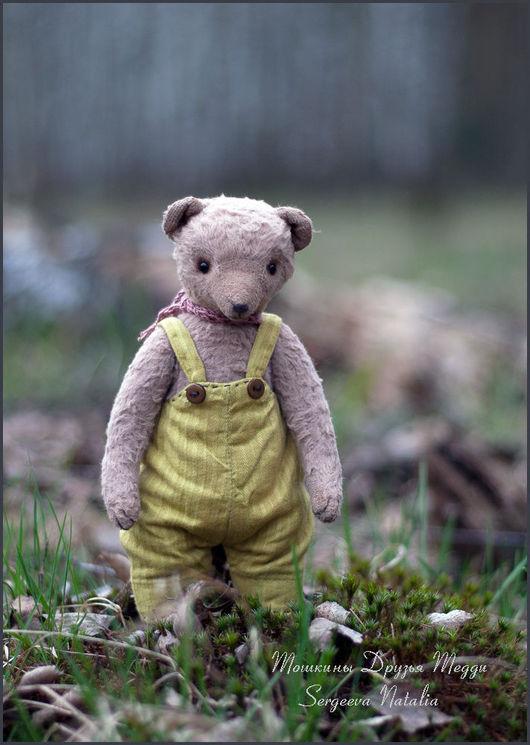 Мишки Тедди ручной работы. Ярмарка Мастеров - ручная работа. Купить Тошка. Handmade. Бежевый, винтаж, диски, пуговицы