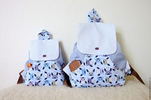Рюкзаки ручной работы. Ярмарка Мастеров - ручная работа. Купить Рюкзак детский и взрослый.. Handmade. Голубой, рюкзак для мальчика, хлопок