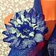 Комплекты аксессуаров ручной работы. Комплект шарф+ брошь  ярко-синие.. Виктория Гайнутдинова (Viktoria-perm). Ярмарка Мастеров.