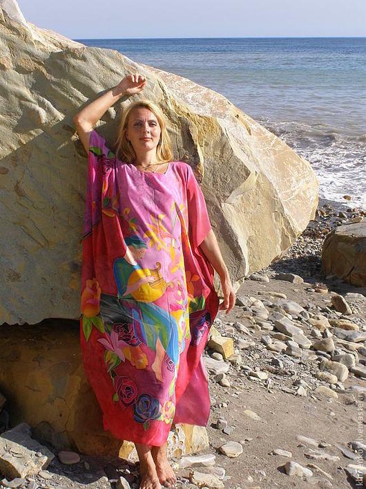 Пляжные платья ручной работы. Ярмарка Мастеров - ручная работа. Купить платье-хитон-  Греция. Handmade. Розовый, ручная работа