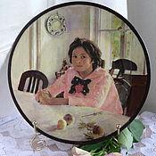 Посуда ручной работы. Ярмарка Мастеров - ручная работа Тарелочка Девочка с персиками. Handmade.