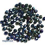Материалы для творчества handmade. Livemaster - original item 25pcs 4JT Beads 21455mm green iris Czech Fire Polished beads. Handmade.