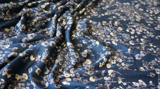 Шитье ручной работы. Ярмарка Мастеров - ручная работа. Купить Вискоза (Италия). Handmade. Тёмно-синий, вискоза, ткань вискозная