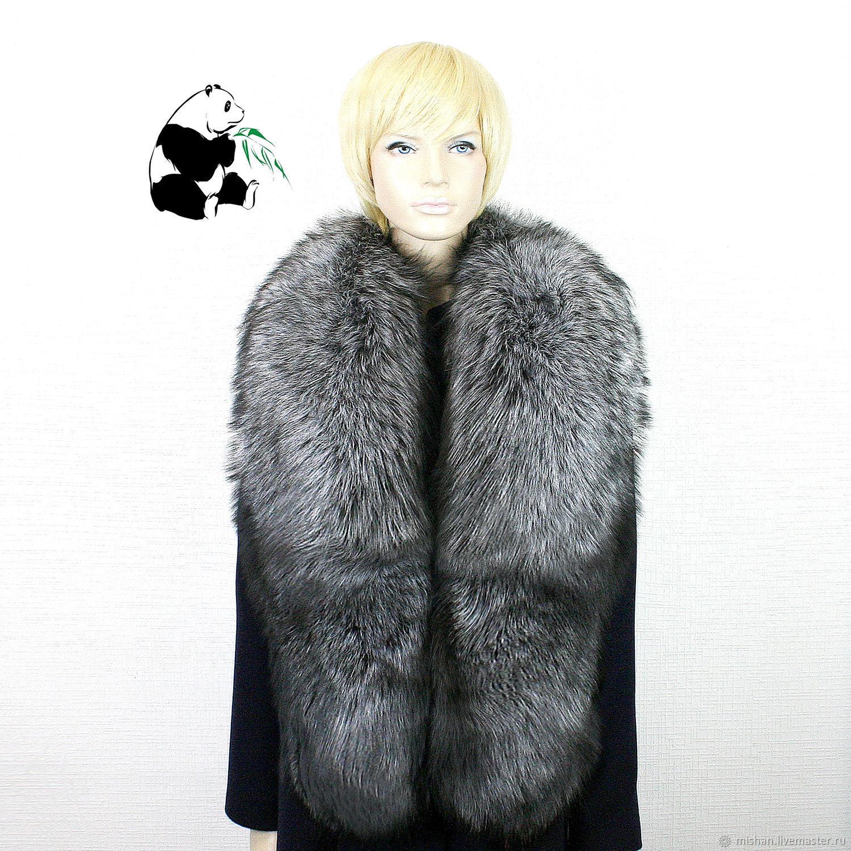 Chic collar made of silver Fox fur. TK-496, Collars, Ekaterinburg,  Фото №1