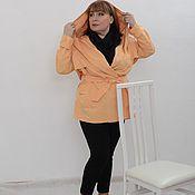 Куртки ручной работы. Ярмарка Мастеров - ручная работа Куртка-плащ с капюшоном желтая. Арт. 1653. Handmade.