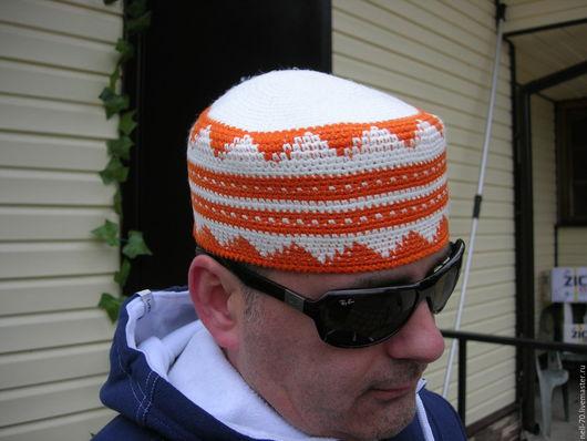 """Для мужчин, ручной работы. Ярмарка Мастеров - ручная работа. Купить Шапка """"Осень-14"""". Handmade. Комбинированный, шапка вязаная"""
