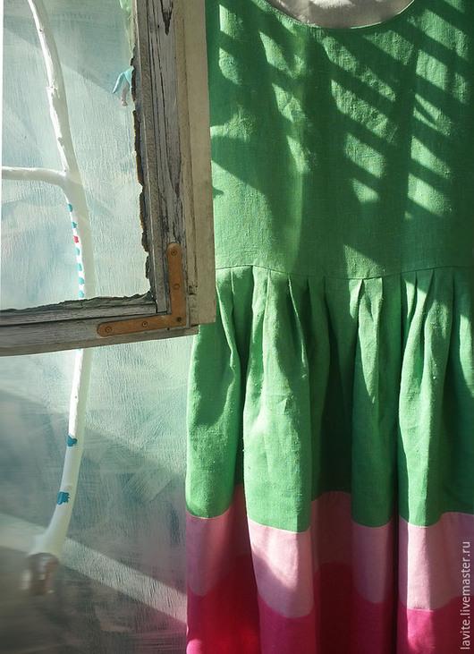 """Платья ручной работы. Ярмарка Мастеров - ручная работа. Купить платье """"зеленая трава"""". Handmade. Болотный, лето, зеленый"""