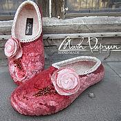 """Обувь ручной работы. Ярмарка Мастеров - ручная работа Валяные тапочки """" Осенний закат """". Handmade."""