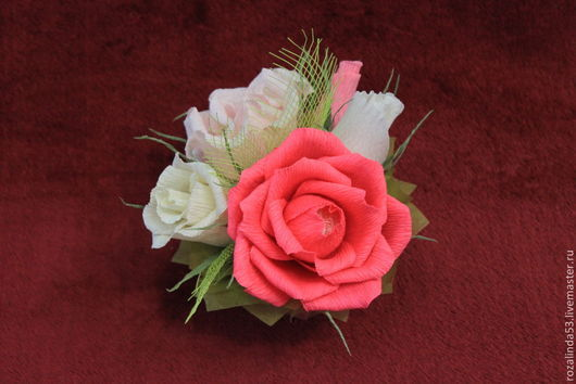 Букеты ручной работы. Ярмарка Мастеров - ручная работа. Купить Букетик из роз. Handmade. Букет из конфет, приятный подарок