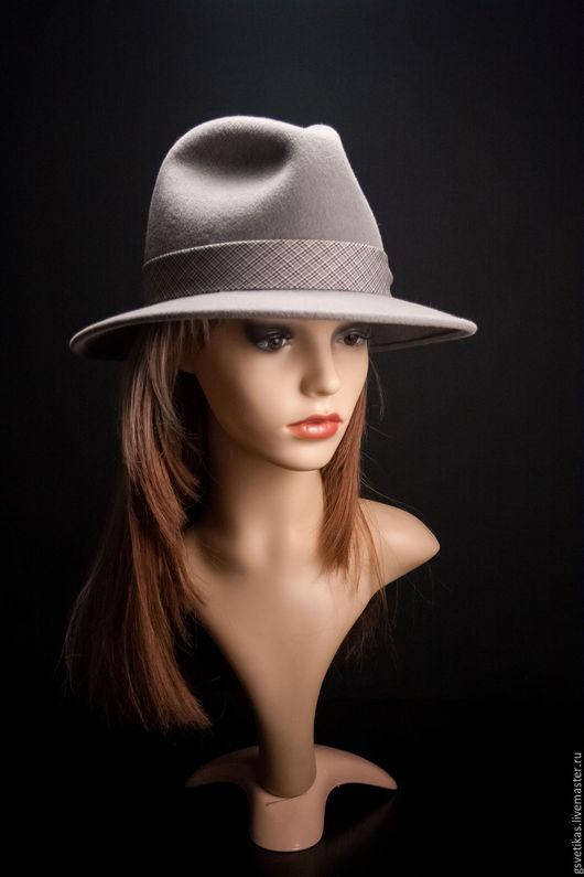 Шляпы ручной работы. Ярмарка Мастеров - ручная работа. Купить Фетровая шляпа Трилби. Handmade. Шляпа, шляпа с полями