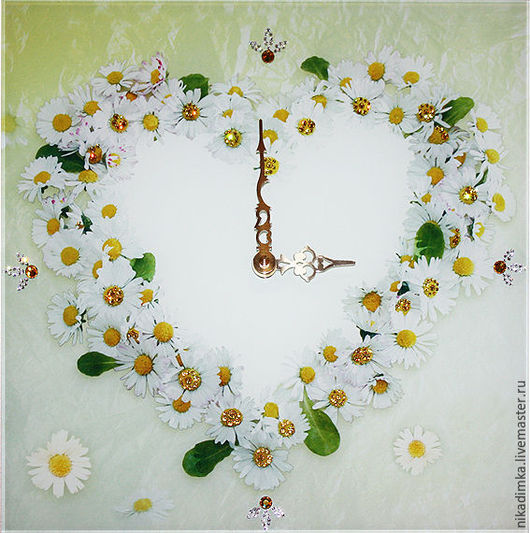 """Часы для дома ручной работы. Ярмарка Мастеров - ручная работа. Купить Часы """" Ромашки"""". Handmade. Желтый, часы настенные"""