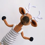 Мягкие игрушки ручной работы. Ярмарка Мастеров - ручная работа Олень Скакун (Пренсер) вязаная игрушка. Handmade.