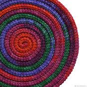 Украшения ручной работы. Ярмарка Мастеров - ручная работа Украшение на шею Lasso Iris вязаное колье шарф бусы. Handmade.