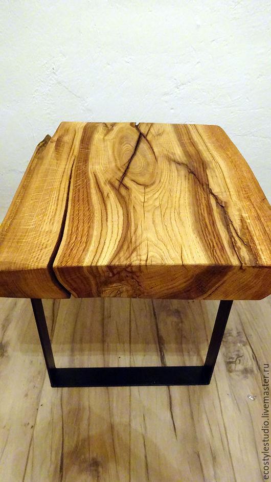 Мебель ручной работы. Ярмарка Мастеров - ручная работа. Купить Столик лофт из слэба дуба / мебел эко лофт. Handmade.