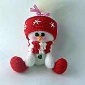 Подарки к праздникам ручной работы. Ярмарка Мастеров - ручная работа девчушка снеговушка. Handmade.