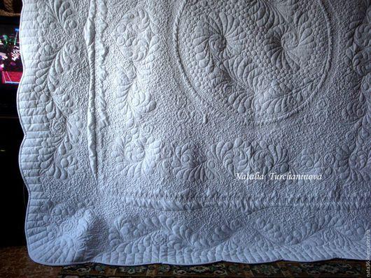 """Текстиль, ковры ручной работы. Ярмарка Мастеров - ручная работа. Купить Стеганое , белое покрывало """"Winter Tale"""". Handmade. квилтинг"""