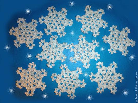 Новый год 2017 ручной работы. Ярмарка Мастеров - ручная работа. Купить Снежинка на елочку 2. Handmade. Снежинка, снежинка крючком