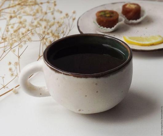 """Кружки и чашки ручной работы. Ярмарка Мастеров - ручная работа. Купить Чайная пара """"белая"""". Handmade. Чайная пара, глина"""