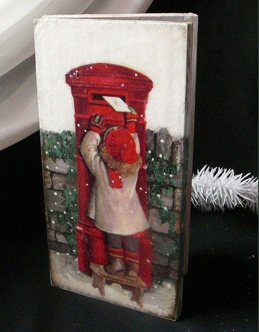 """Шкатулки ручной работы. Ярмарка Мастеров - ручная работа. Купить Купюрница """"Письмо Деду Морозу"""". Handmade. Шкатулка деревянная, купюрница"""
