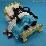 Куклы и игрушки ручной работы. Ярмарка Мастеров - ручная работа Кот Сплюшкин. Handmade.