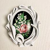 Украшения handmade. Livemaster - original item Brooch-pin: Delicate bouquet. Handmade.