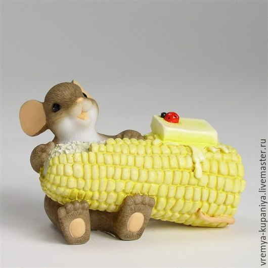 """Другие виды рукоделия ручной работы. Ярмарка Мастеров - ручная работа. Купить Силиконовая форма для мыла  """"Мышонок с кукурузой"""". Handmade."""