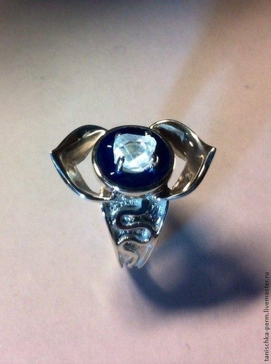 """Кольца ручной работы. Ярмарка Мастеров - ручная работа. Купить Кольцо """"Аджна"""" с алмазом херкимера в виде двухлепесткового лотоса. Handmade."""