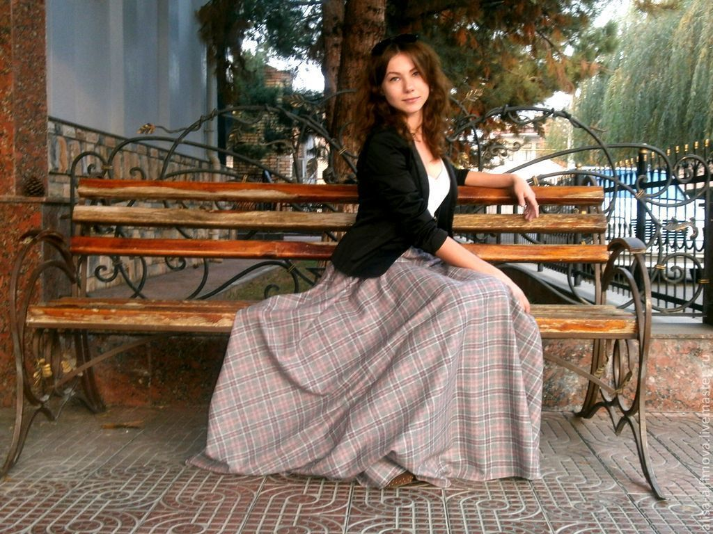 "Юбка-тартан в пол ""Лёлечка"", Skirts, Tashkent,  Фото №1"