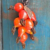 """Украшения ручной работы. Ярмарка Мастеров - ручная работа кулон лэмпворк """"Wild rose"""". Handmade."""