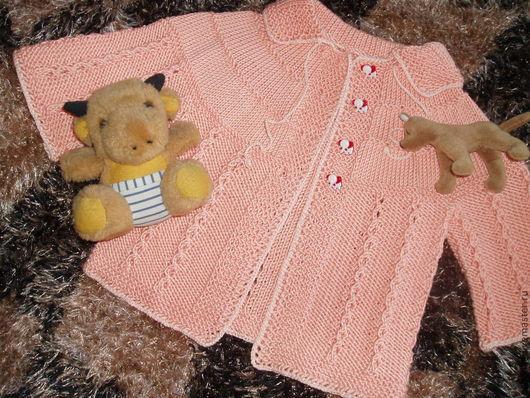 Одежда для девочек, ручной работы. Ярмарка Мастеров - ручная работа. Купить кофточка из хлопка Карамелька. Handmade. Оранжевый, белый