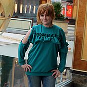 Одежда handmade. Livemaster - original item Fancy sweatshirt Jersey. Handmade.