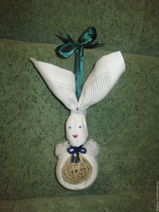 Новый год 2017 ручной работы. Ярмарка Мастеров - ручная работа. Купить Рождественский заяц. Handmade. Белый, поделка на елку