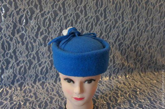 """Шляпы ручной работы. Ярмарка Мастеров - ручная работа. Купить Валяная шляпка """" Синий иней"""". Handmade. Синий, шляпки"""