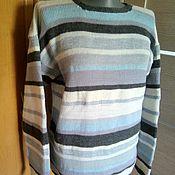 Одежда handmade. Livemaster - original item Knitted striped pullover. Handmade.