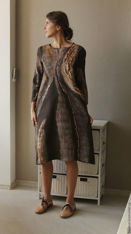Felted dress Cinnamon, Dresses, Lugansk,  Фото №1