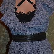 """Одежда ручной работы. Ярмарка Мастеров - ручная работа """"Сапфир"""" эксклюзивный жилет. Handmade."""