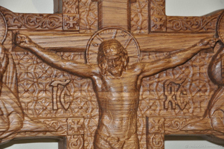 Православный резной крест распятие, Иконы, Тула,  Фото №1