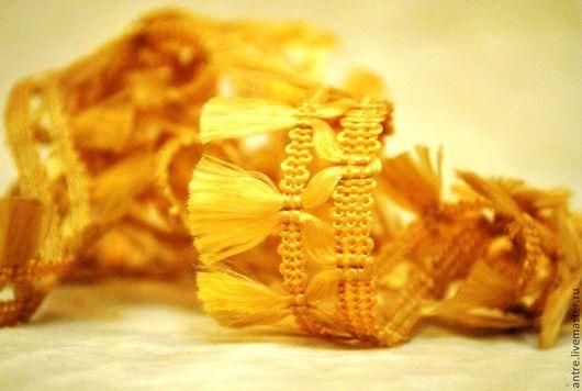 """Шитье ручной работы. Ярмарка Мастеров - ручная работа. Купить Тесьма  с кистями """"Золото"""". Handmade. Лента, тесьма для отделки, для кулона"""