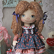 Куклы и игрушки handmade. Livemaster - original item Little doll Mana with blue eyes. Interior collectible handmade doll. Handmade.