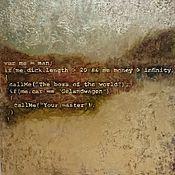Картины и панно ручной работы. Ярмарка Мастеров - ручная работа Большая картина для программистов с шуткой - золочение, текст. Handmade.