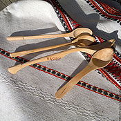 """Посуда ручной работы. Ярмарка Мастеров - ручная работа Ложки чайные деревянные """"Бук"""". Handmade."""